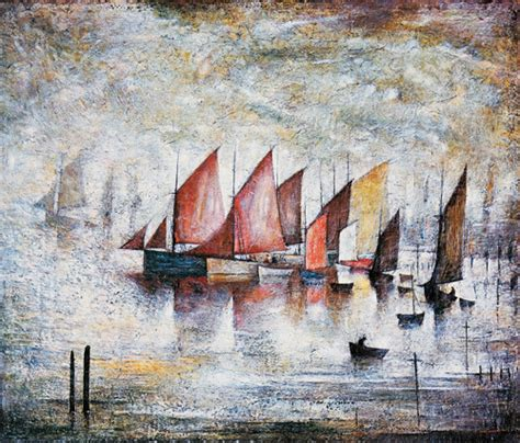 boat paint manchester sailing boats art print by l s lowry worldgallery co uk