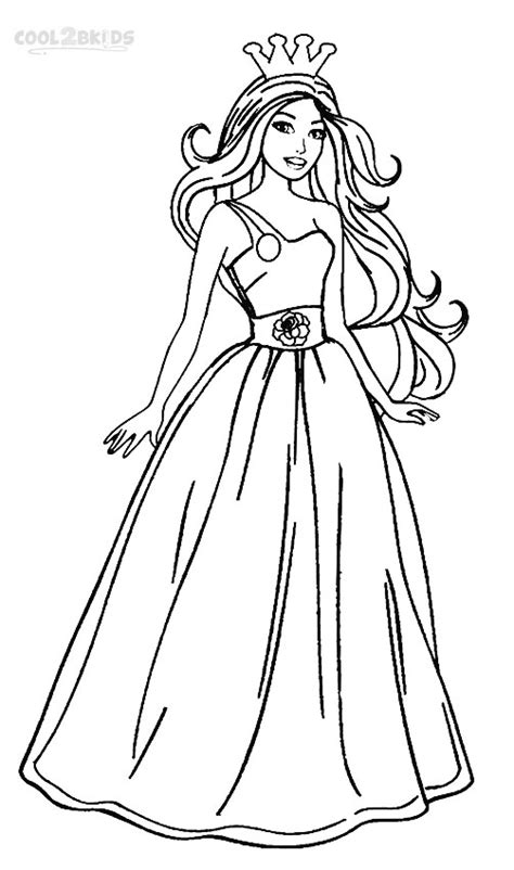 Printable Barbie Princess Coloring Pages For Kids Cool2bkids The Princess Coloring Pages Free Coloring Sheets