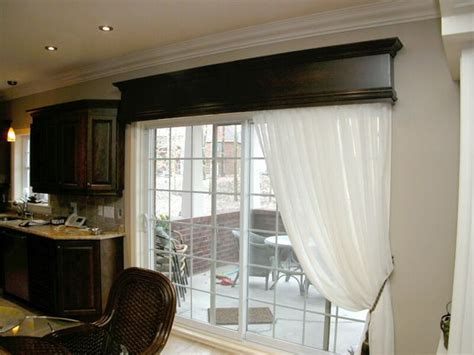 Kitchen Patio Door Window Treatments Patio Door Window Curtain Patio Doors Sliding Doors Doors And Wooden Valance