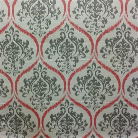 Find Upholstery Monarch Gray Ikat Design Upholstery Fabric 51436