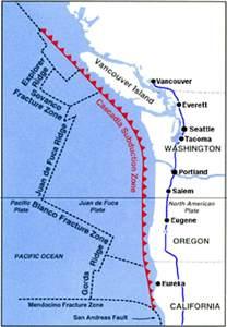 oregon fault line map cascadia subduction zone