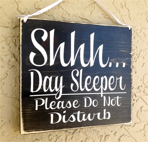 Day Sleeper by Shhh Day Sleeper Do Not Disturb Choose Color Rustic