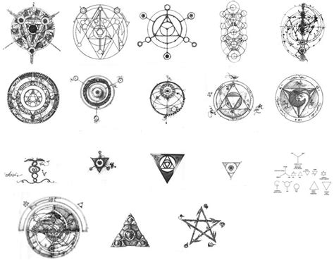 dark crystal tattoo symbols from the beautiful combinations of