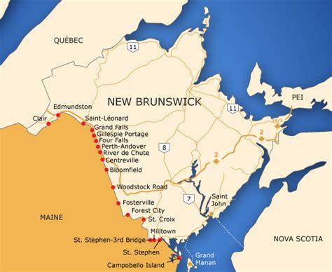 map of maine usa and new brunswick canada borders of new brunswick