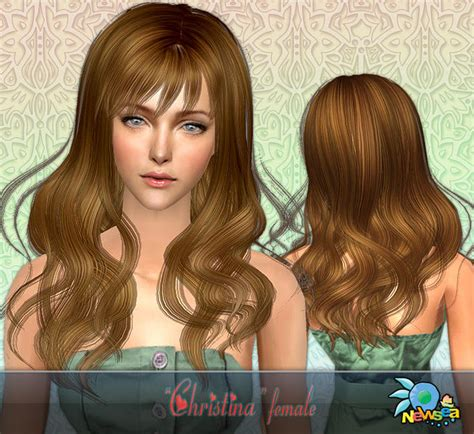 the sims 2 downloads fringe hairstyles newsea sims2 hair yu049f christina