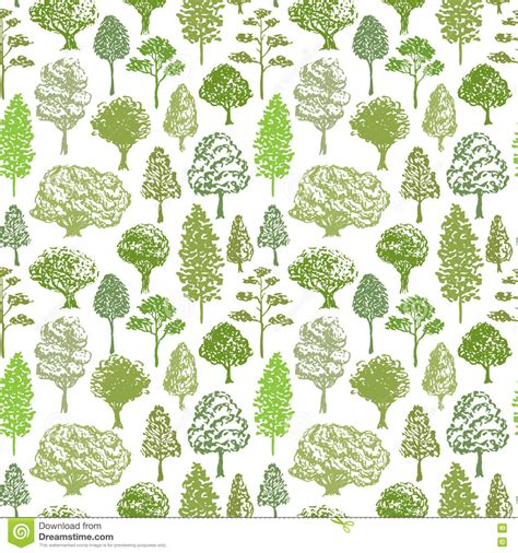 svg tree pattern trees vector pattern sketch seamless green tree pattern