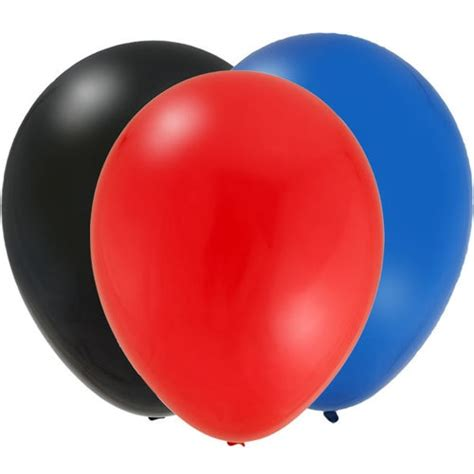 black blue  red  latex balloons ct birthday
