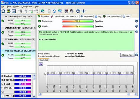 test hdd disk sentinel screenshots