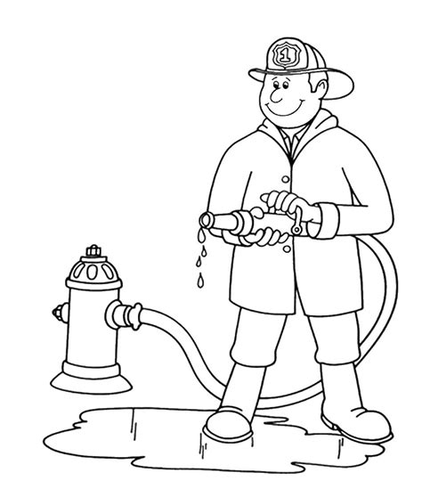 firefighter coloring page free coloring pages of fireman clipart