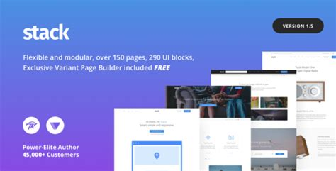 avada theme visual composer stack multi purpose wordpress theme with variant page