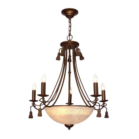 Classical Chandeliers Shop Classic Lighting And Tassel 26 In 8 Light Bronze