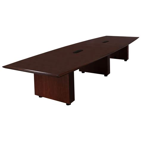 Wood Conference Table Steelcase Used Wood Veneer 14ft Conference Table Mahogany National Office Interiors And