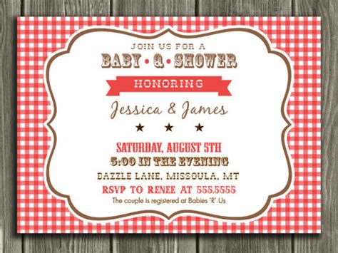 Baby Q Shower by Printable Baby Q Baby Shower Invitation Barbeque Bbq