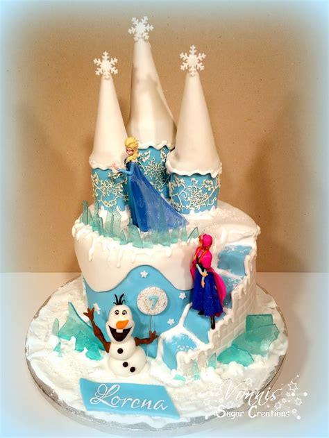 kuchen kindergeburtstag bestellen frozen cake castle olaf elsa fondant stairs