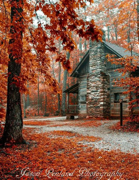 Log Cabins And Cider by Photographer Jason Penland Beautiful Fall