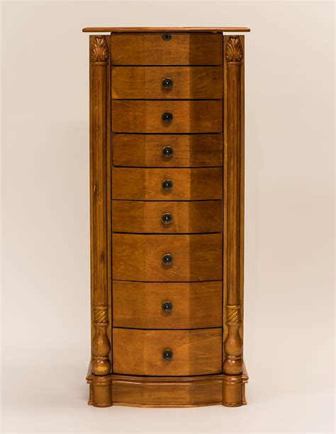 Oak Jewelry Armoire Hives Honey Louis Xvi Honey Oak Jewelry Armoire