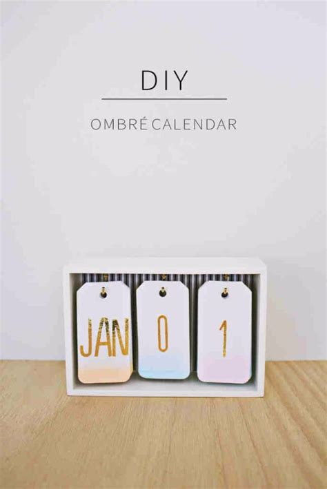 gifts for home best diy gifts for girls diy ombre calendar cute