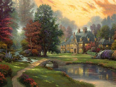 house painting art disney paintings thomas kinkade 5