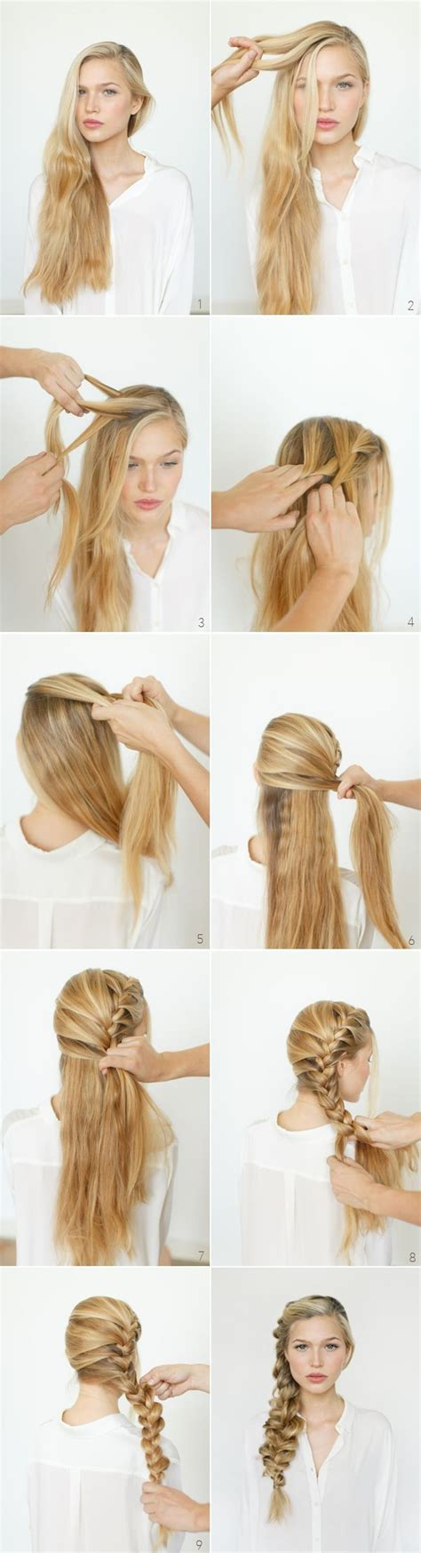 easy braided hairstyles for long hair step by step step by step hairstyles for long hair long hairstyles
