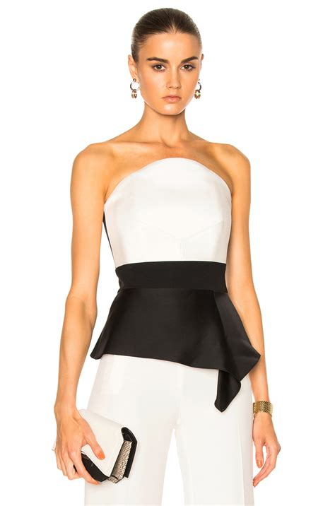 Roland Mouretwool Top With Peplum roland mouret penn strapless peplum bustier top white