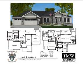 house plans with daylight basements rambler daylight basement floor plans tri cities wa
