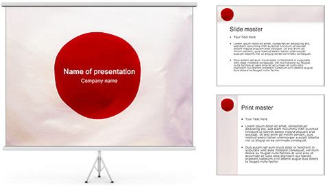 japanese flag powerpoint template backgrounds id