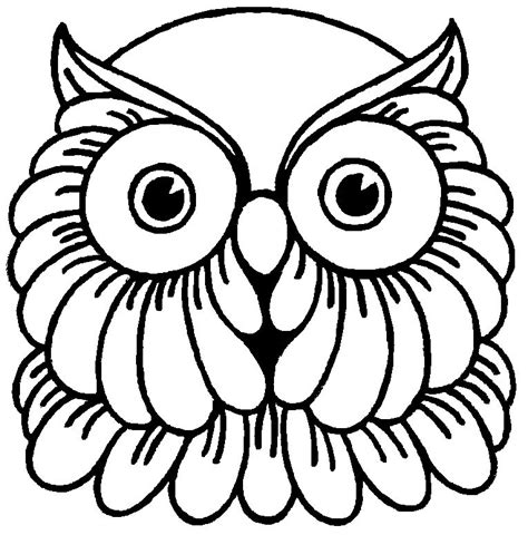 owl mask coloring page free sugar owl coloring pages