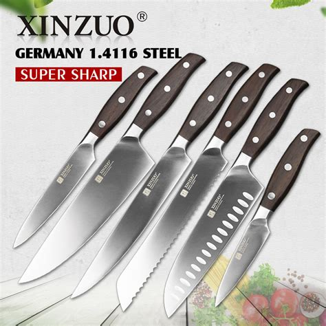 6pcs kitchen knife set stainless steel kitchen chef knife xinzuo kitchen tools 6pcs 3 5 5 7 8 8 8 inch utility
