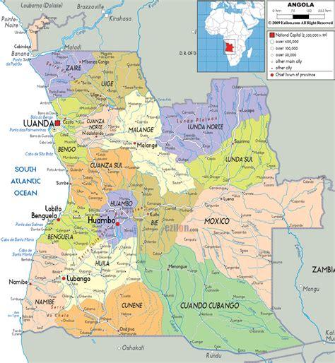 angola map political map of angola ezilon maps