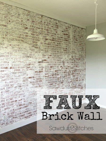 Peel And Stick Wainscoting How To Faux Brick Wall Sawdust 2 Stitches