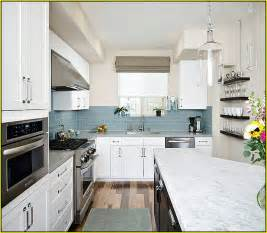 Light Blue Kitchen Backsplash by Blue Glass Tiles For Backsplash Home Design Ideas