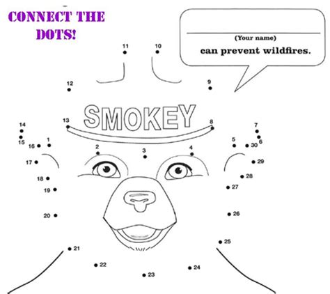 smokey the bear colouring pages