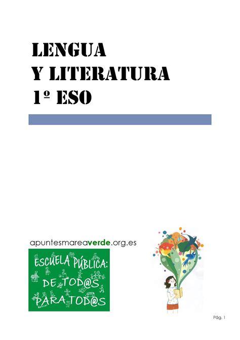 lengua castellana y literatura 8467587156 libro de lengua castellana y literatura 1 186 eso marea verde by maria luisa caride v 225 zquez issuu