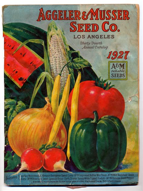 Early Fruit Vegetable Seed Catalogs Of Southern Vegetable Garden Catalogs