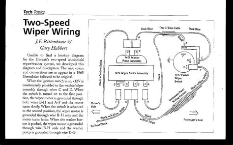 windshield wiper motor wiring diagram for 68 firebird