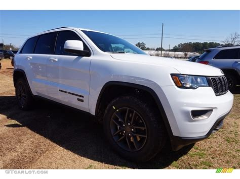 white jeep 2016 2016 bright white jeep grand cherokee 75th anniversary