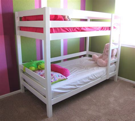 ana white bunk bed ana white classic bunk beds in white diy projects