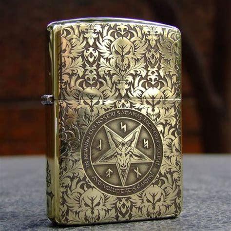 Zippo Constantine Armor etching brass armor 5 sides of satan zippo lighter flip lighters zippo