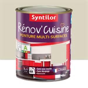 peinture r 233 nov cuisine syntilor beige cr 232 me de