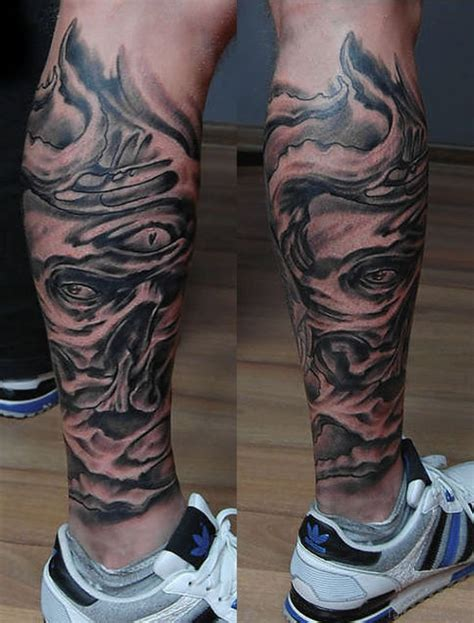 60 trendy biomechanical tattoos on leg