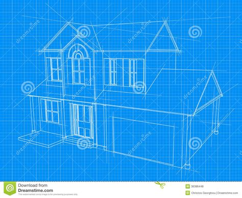 home blueprints free house blueprint stock vector illustration of diagram