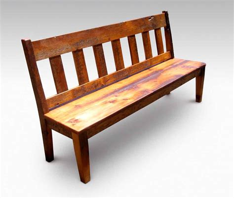 Wood Benches For Kitchen Tables Farm Table Slatted Bench With Back Olde Things