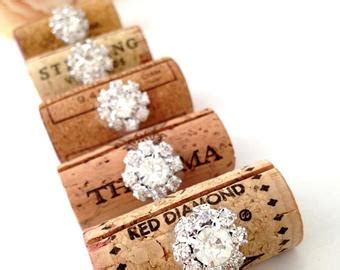 succulent name card holder wedding wine themed bridal shower