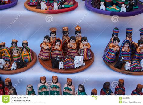 christmas figurines for sale at chichicastenango market