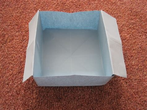 How To Fold Paper Into A Box - origami disposable trash box 183 how to fold an