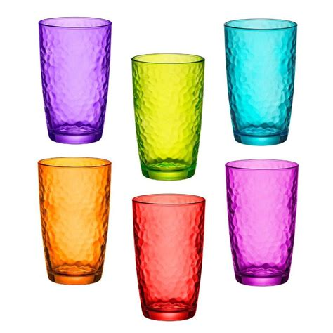 colorful glasses colored glasses bormioli colored