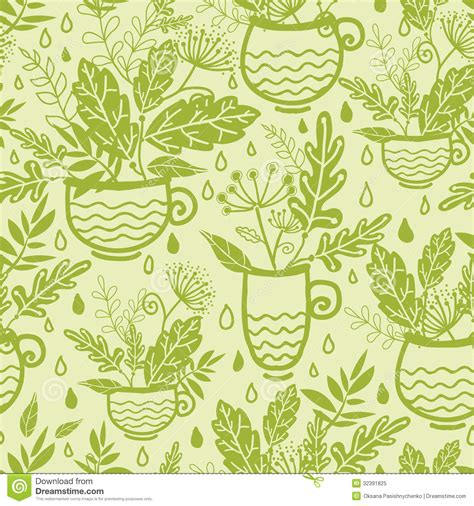 green tea cups seamless pattern background royalty free