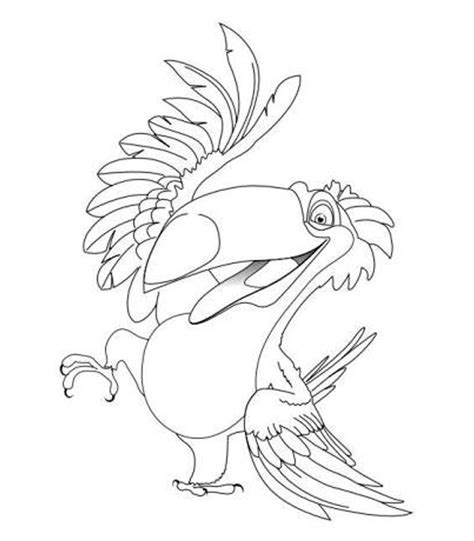 rio birds coloring pages free coloring pages of exotic birds