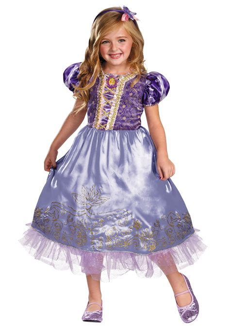 girls rapunzel sparkle deluxe costume