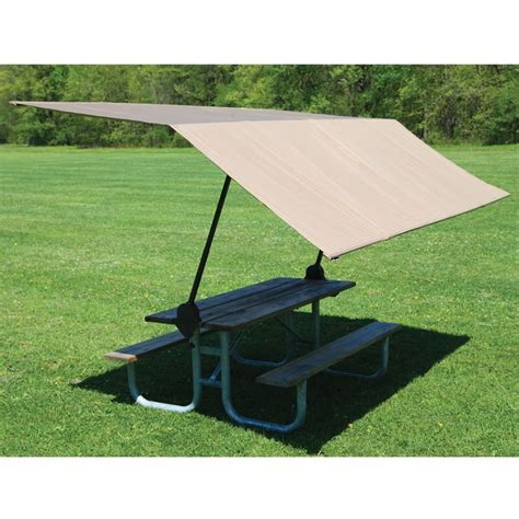 Picnic Table Awning by 1000 Ideas About Portable Canopy On Tent